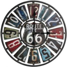Springfield(R) Precision 98266 22 Oversized Heirloom Clock (Route 66 License Plate)