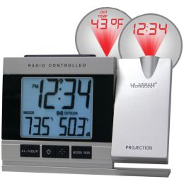 La Crosse Technology Atomic Projection Alarm Clock With Indoor & Outdoor Temperature LCR5220UITCBP