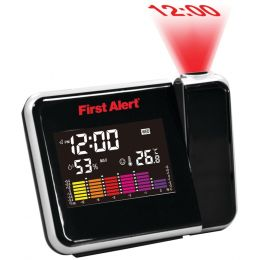 First Alert Weather Station Projection Alarm Clock JENFA2200