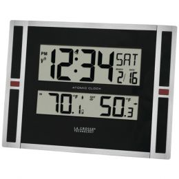 La Crosse Technology Indoor And Outdoor Thermometer & Atomic Clock LCR513149
