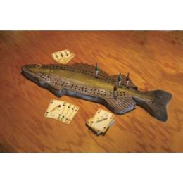 Rivers Edge Walleye Cribbage Set W/Cards 712