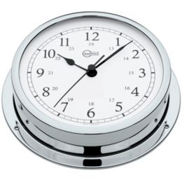 BARIGO Viking Series Quartz Ships Clock - Chrome Housing - 5 Dial
