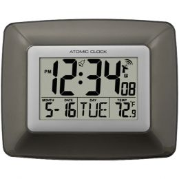 La Crosse Technology Atomic Digital Wall Clock With Indoor Temperature LCRWS8008U