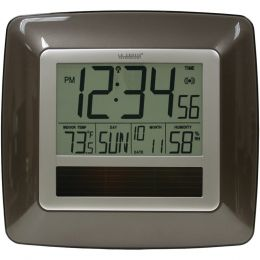 La Crosse Technology Solar Atomic Digital Wall Clock With Indoor Temperature (bronze) LCRWT8112U