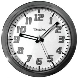 "Westclox 7.75"" Translucent Wall Clock (black) NYL32004BK"