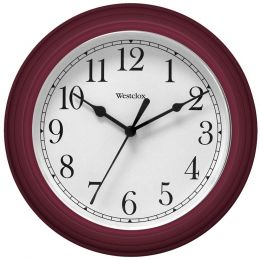 "Westclox 9"" Decorative Wall Clock (red) NYL46983"