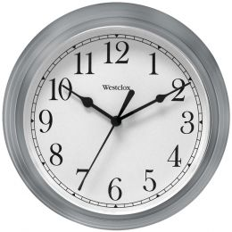 "Westclox 9"" Decorative Wall Clock (gray) NYL46984A"