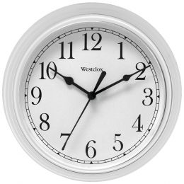 "Westclox 9"" Decorative Wall Clock (white) NYL46994A"