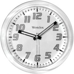 "Westclox 7.75"" Translucent Wall Clock (white) NYL32004"