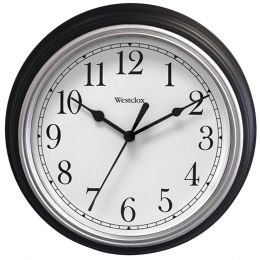 "Westclox 9"" Decorative Wall Clock (black) NYL46991A"