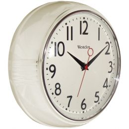 "Westclox 9.5"" Retro Wall Clock NYL32042W"
