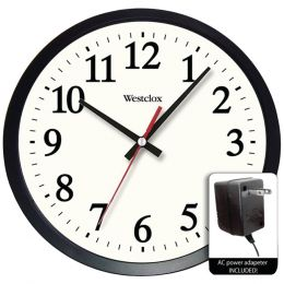 "Westclox 14"" Round Electric Powered Office Wall Clock NYL32189A"