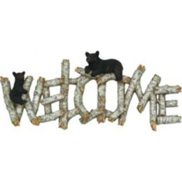 Rivers Edge Birch/Bear Welcome Plaque 1383