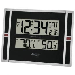 La Crosse Technology(R) 513-149 Indoor/Outdoor Thermometer & Atomic Clock
