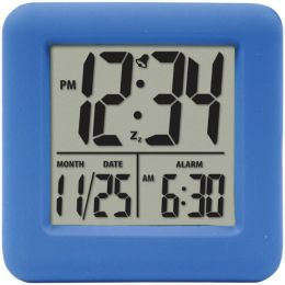 Equity(R) by La Crosse 70905 Soft Cube LCD Alarm Clock (Blue)