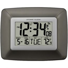 La Crosse Technology(R) WS-8008U Atomic Digital Wall Clock with Indoor Temperature