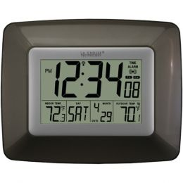 La Crosse Technology(R) WS-8119U-IT-CHO Atomic Digital Clock with Indoor/Outdoor Temperature (Black)