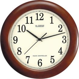 La Crosse Technology(R) WT-3122A 12.5 Walnut Atomic Wall Clock