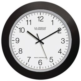 La Crosse Technology(R) WT-3129B 12 Black Atomic Wall Clock