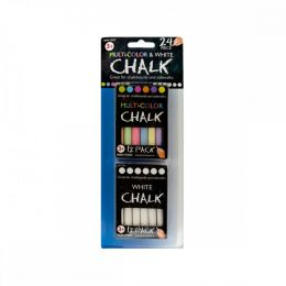 2 Pack 12 Pc Multi Color/white Chalk GM821