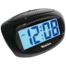 Westclox(R) 70043X Large Easy-to-Read LCD Battery Alarm Clock