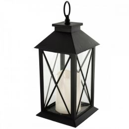 Decorative Lantern With Led Pillar Candle OS335