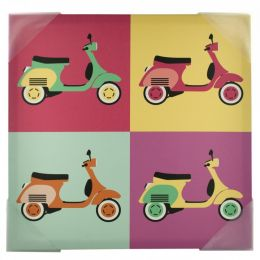 Vintage Scooters Pop Art Canvas Wall Art OS641