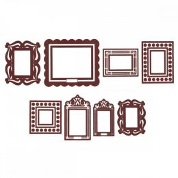Brown Stickr Peel & Stick Wall Frames Kit OT091